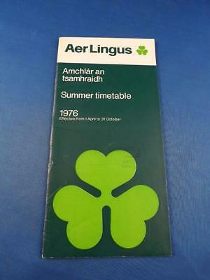 Air Aer Lingus Irish International Airlines Summer Timetable 1976 Ireland Travel