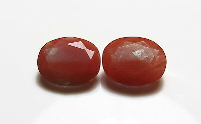 11x9mm 2pc RARE NATURAL ANDESINE faceted OVAL CUT LOOSE GEMSTONES  from rough