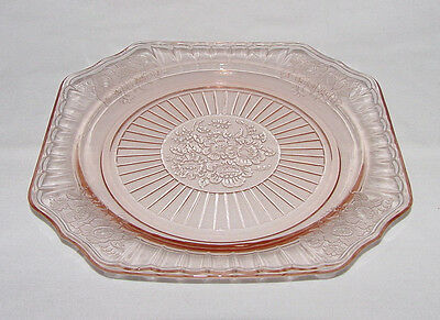 "IMMACULATE Vintage Pink Hocking ""MAYFAIR/OPEN ROSE"" Lunch Plate - 2 Available!"