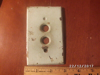 Antique Vintage Brass Single Push Button Light Switch Plate (C)