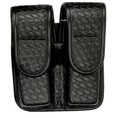 Bianchi Black 7902 Basketweave Accumold Elite Double MAG Magazine Group 4 Pouch