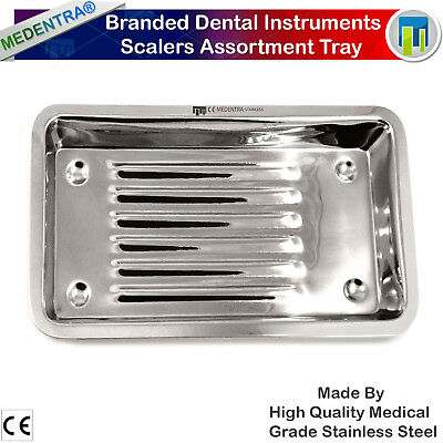 Dental Instrument Scalers Assorted Trays Stainless Steel Tray Dish Medical Lab