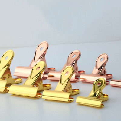 New Metal Rose Gold Drop Shaped Binder Clips Stationery School Office Supplies