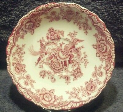 Mint Bristol Crown Ducal England Birds Of Paradise Pink 5-3/4'' Saucer Plate