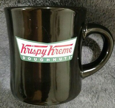 Mint Krispy Kreme Doughnuts Black Diner Style Heavy Ceramic Coffee  Cup Mug 8oz