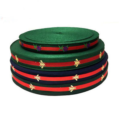 3M Striped embroidered Ribbon Decoration clothing crafts Sewing gift wrapping