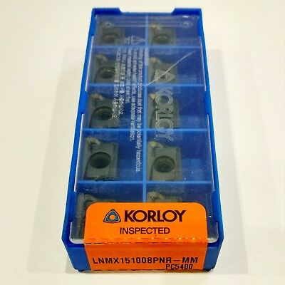 10 pcs New KORLOY LNMX 151008 PNR-MM PC5400 CARBIDE INSERTS LNMX151008PNR-MM