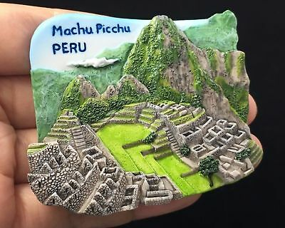 Machu Picchu Incas PERU 3D Resin Fridge Magnet Tourist Souvenir Beauty Sopt View