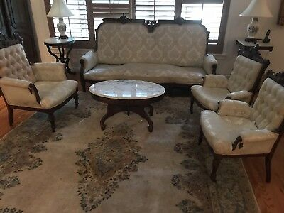 Stunning Rare Antique Sofa And Chairs Set