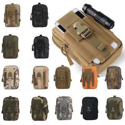 Tactical Molle Pouch Compact EDC Utility Gadget Belt Waist Bag W/Phone Holder