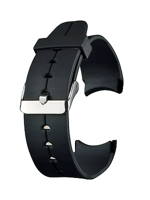 Curved End Watch Strap 20mm or 22mm Replacement Straps Mens Rubber Polyurethane