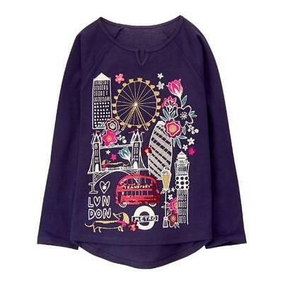 NWT Gymboree Ready Jet Go London Tee Shirt Top Girls 5/6,7/8
