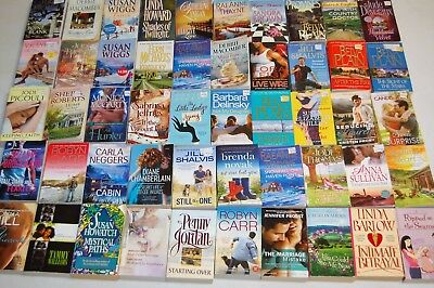 Lot Of 5 Pounds Of Contemporary Romance Paper Backs, Free Ship, Popular Authors