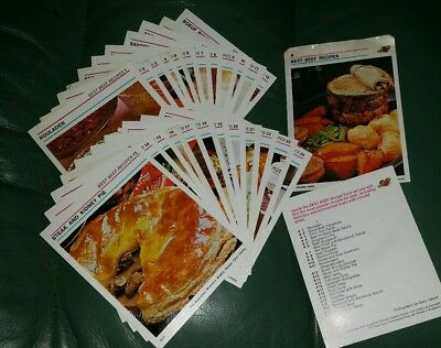 WOMEN'S WEEKLY  RECIPE CARDS Best Beef Recipes #1-24 plus index and header card