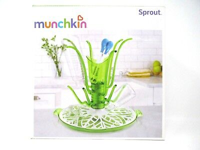 Munchkin Sprout Drying Rack Holds Utensils and Small Accessories Green White