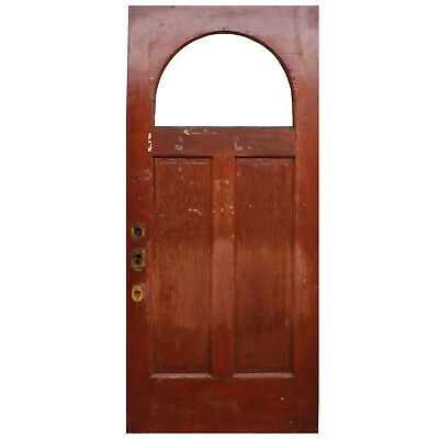 """Salvaged Antique 36"""" Door with Arched Window, NED769"""