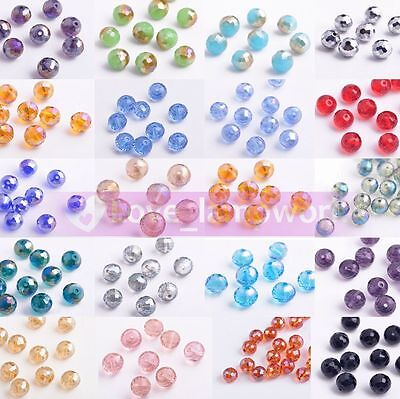 NEW 20pcs 10mm 96facets Round Ball Crystal Glass Faceted Loose Spacer Beads Lot