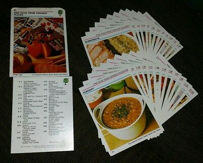 WOMEN'S WEEKLY RECIPE CARDS Fine Food Faraway Places   #1-24 + index & header