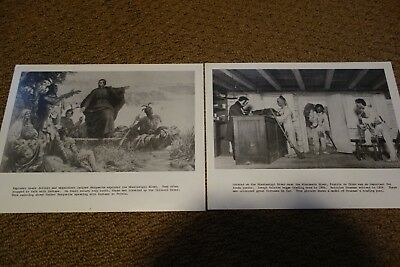 Vintage Wisconsin Historical Society Mississippi River Indian Prints Lot of 2