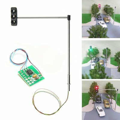 3x HO/OO Traffic Signal LED Light Model Architecture Cross Street Toy Model
