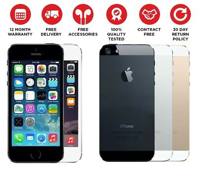 """Apple iPhone 5s - 16GB - Unlocked Smartphone Various Colours """" GIFT BLUETOOTH """""""