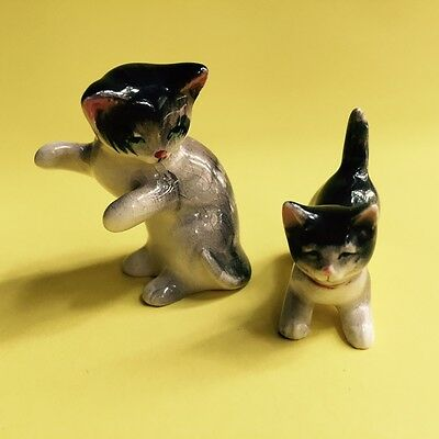 Miniature Porcelain Figurines of Kittens/Cats