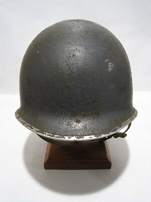 M1 Helmet Rare Navy Fixed Bale Heat Stamp 660A Dates To 1943