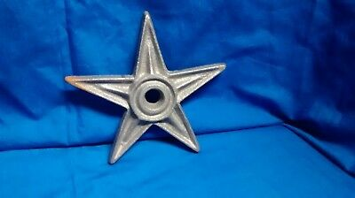 "2 Rustic Architectual Stress Washer Candle Star size  6 1/4"" Wide Cast Iron"