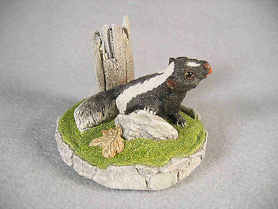 James King cold cast ceramic Skunk sculpture