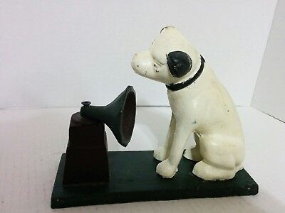 Nice Heavy Cast Iron  RCA DOG Bank / Doorstop Reproduction ~~ Almost 5 lbs.