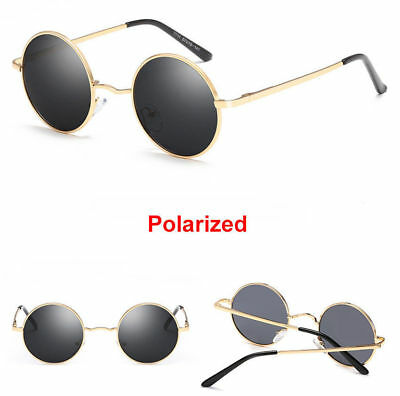 Vintage Classic Round Style Unisex Retro Fashion Polarized Sunglasses