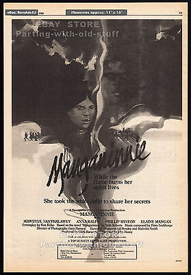 MANGANINNIE__Original 1980 Trade print AD / poster__movie promo__Phillip Hinton