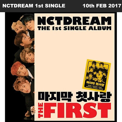 NCT DREAM THE FIRST 1st Single Album CD+Photo Book+Card KPOP
