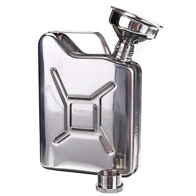 5oz Stainless Steel Jerry Can Hip Flask Liquor Wine Alcohol Pocket Bottle New