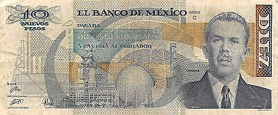 México  10  Pesos  31.7.1992  Prefix E  Series  C  Circulated Banknote
