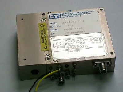 CTI HERLEY 2470 Mhz PLL oscillator with internal crystal reference 10 dbm