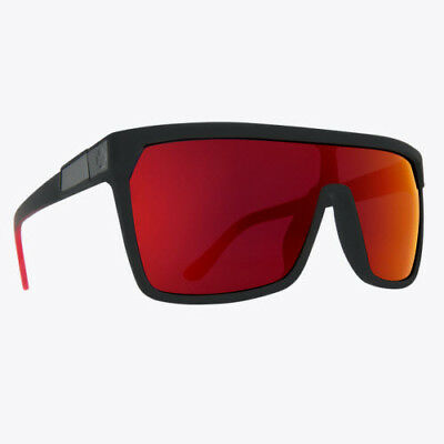 c9599e5a24 Spy Flynn Sunglasses Soft Matte Black Happy Grey Green with Red Flash
