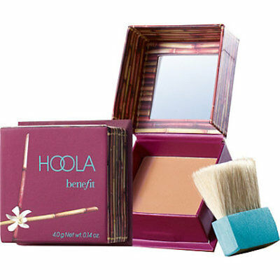 100% Benefit Hoola Bronzer + Brush & Mirror Travel Size 4g Bronzing Powder - NEW
