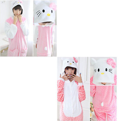 Hello Kitty Unisex Adult Pajamas Kigurumi Cosplay Costume Sleepwear