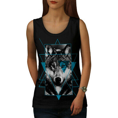 Wildlife Active Sports Shirt Wellcoda Wolf Head In Forest Mens Tank Top