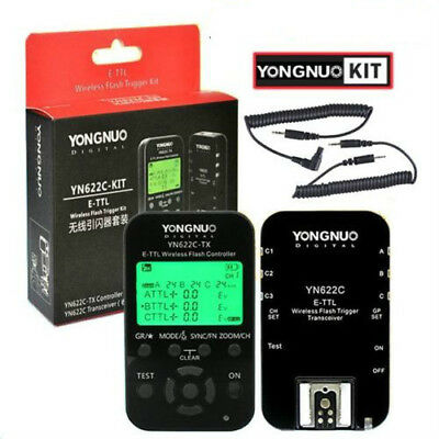 Yongnuo YN-622C KIT = YN622C RX + YN622C-TX HSS E-TTL Wireless Flash Trigger US5