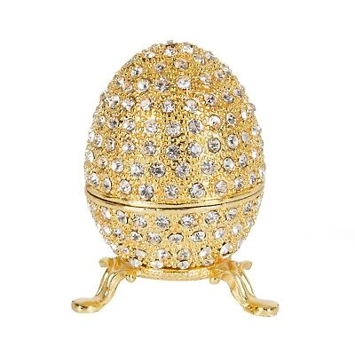 Jewelry Trinket Box Unique Gift For Home Decor Egg Style Decorative Hinged New