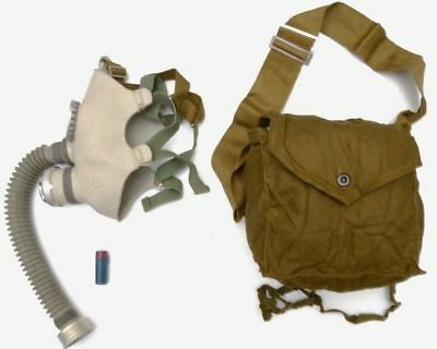 soviet russian children gas mask with hose small child kid gas mask hose NOS NBC