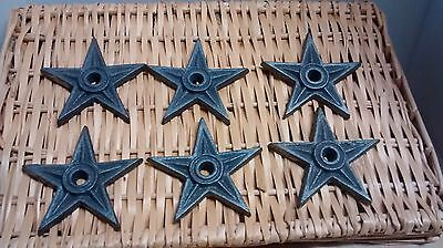 "6 Cast Iron Rustic Architectural Stress Washer Texas Star 4 1/4"" Wide"