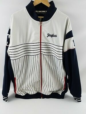 Wright and Ditson Collection Mens Yankee Baseball Coat Jacket Size 3XL Red Blue