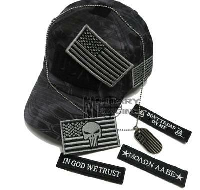 USA Flag Punisher Typhon Dont Tread on me Special Operator Hat Tactical  Patch 3ed894e9d1e
