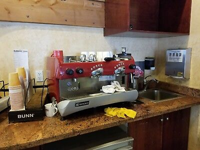 RANCILIO EPOCA 2 Group Commercial Espresso Machine Working