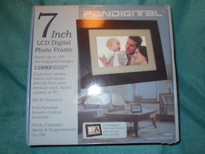 "Pandigital 7"" inch LCD Digital Photo Picture Frame Remote Control VGC"