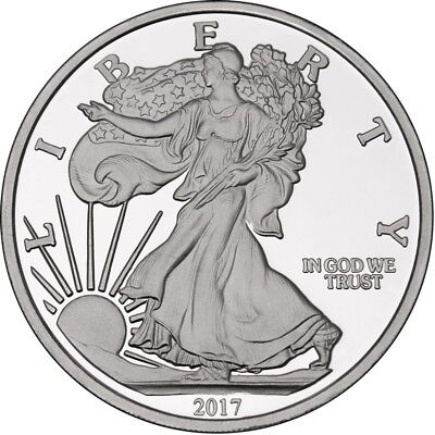 2017 American Eagle 5 oz .999 Silver Round Mint Sealed USA Made Bullion Coin