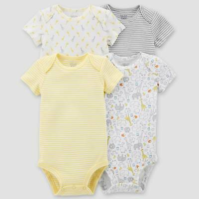 Baby 4pk Bodysuit Set - Just One You™ Made by Carter's®  Yellow